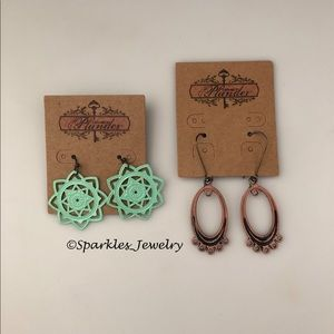 Plunder Mint & Amelia Earrings Combo